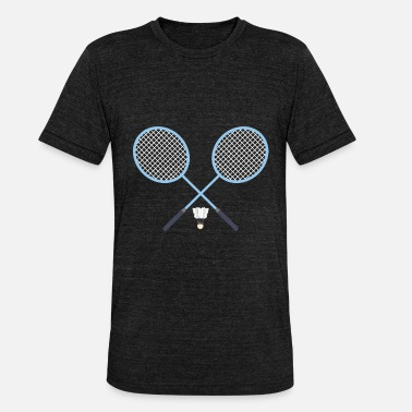 Badminton Rackets Badminton badminton Badminton rackets - Unisex Tri-Blend T-Shirt by Bella & Canvas