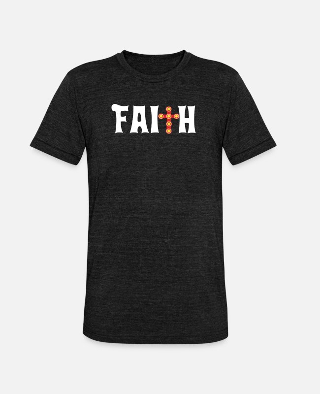 Hoffnung T-Shirts - Faith Cross Christian Design Parade - Unisex T-Shirt meliert Schwarz meliert