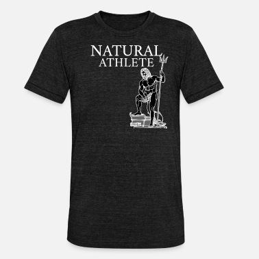 Steroids Natural Fitness Greek Antique white - Unisex Tri-Blend T-Shirt