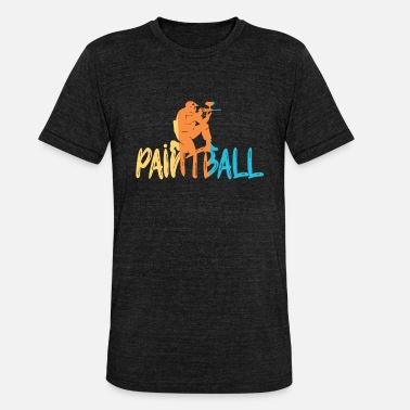 Paintball Paintball - T-shirt chiné Bella + Canvas Unisexe
