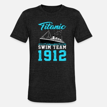 1912 Nuotatore Swimmer Titanic Swim Team 1912 - Maglietta unisex tri-blend di Bella + Canvas