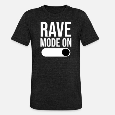 Techno Rave Fashion On Techno Raver - Unisex Tri-Blend T-Shirt by Bella & Canvas