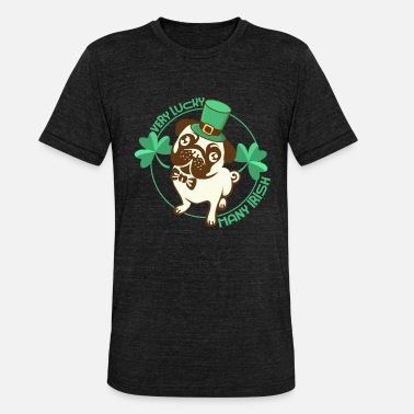 Celtic Dog Gelukkig Saint Patrick's Dog - Unisex triblend T-shirt