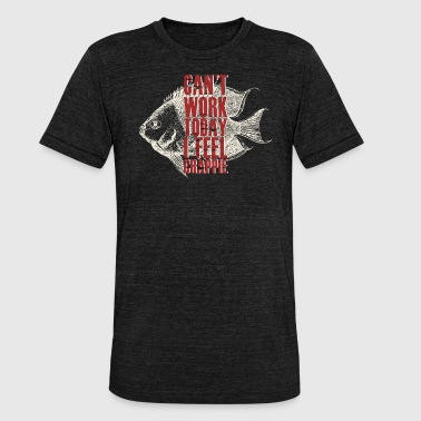 Crappie Fishing Can't Work Today I Feel Crappie Fishing Lover - Unisex Tri-Blend T-Shirt by Bella & Canvas