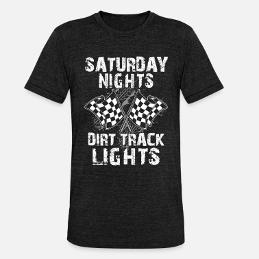 Stockcar Saturday Nights Dirt Track Lights - Stockcar Bike - Unisex T-Shirt meliert