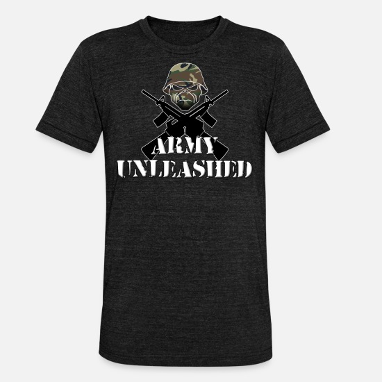 Gift Idea T-Shirts - army - Unisex Tri-Blend T-Shirt heather black