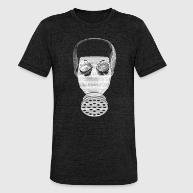 Skull Gas Mask Skull Halloween chemist gas mask skull - Unisex Tri-Blend T-Shirt by Bella & Canvas