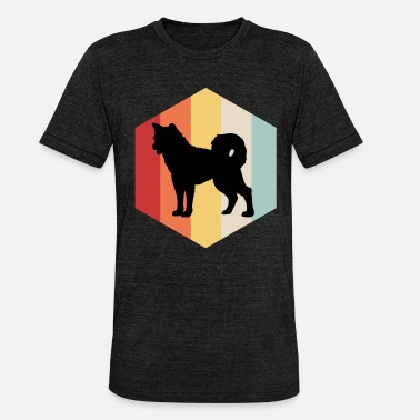 Akita Retro Akita Hund Japan Loyal Hundefreund Hundeliebhaber - Unisex T-Shirt meliert