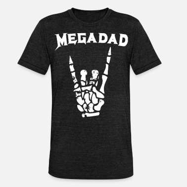 Metal Megadad T-Shirt Rock Heavy Metal Guitar Dad T Shir - Unisex Tri-Blend T-Shirt