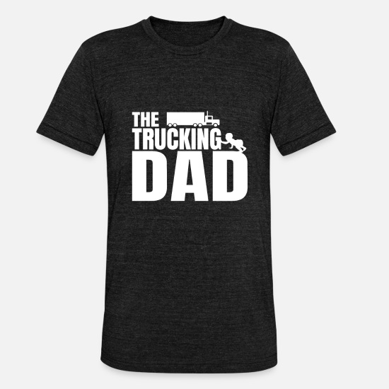 Birthday T-Shirts - Truck Car Dad Father's Day Baby Kids Gift - Unisex Tri-Blend T-Shirt heather black