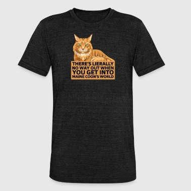 Maine Coon Maine Coon - Unisex tri-blend T-shirt fra Bella + Canvas