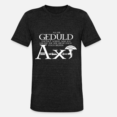 Fantasy Dwarf Axe Pen and paper ax - Unisex Tri-Blend T-Shirt by Bella & Canvas