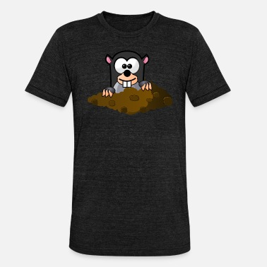Look Out Mole looks out of the hole - Unisex Tri-Blend T-Shirt