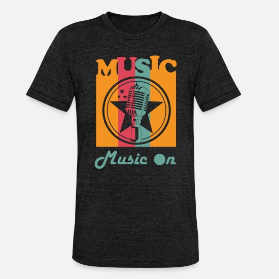 Song T-Shirts - Music stage - Unisex Tri-Blend T-Shirt heather black
