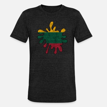 Lithuania national flag - Unisex Tri-Blend T-Shirt