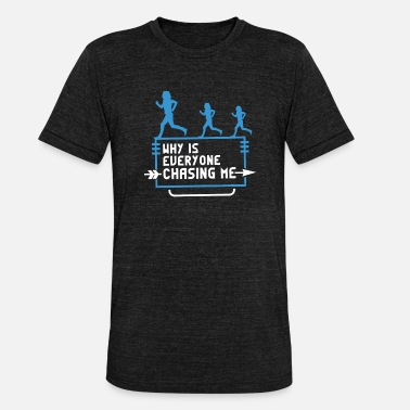 Cross country running jogging marathon gift - Unisex Tri-Blend T-Shirt