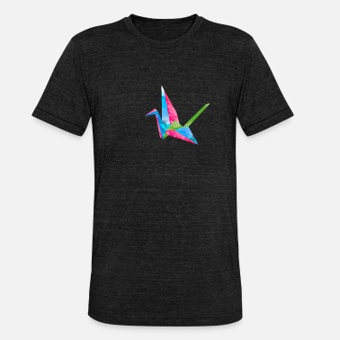 Origami watercolor - Unisex Tri-Blend T-Shirt