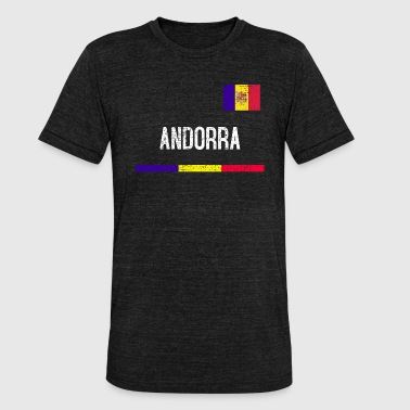 Andorra - Camiseta Tri-Blend unisex de Bella + Canvas
