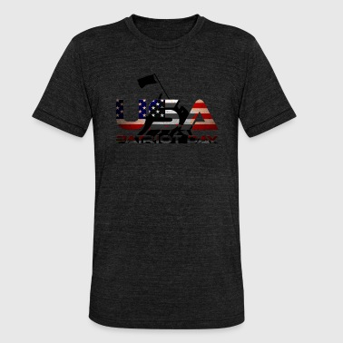 USA, Patriot Day / Patriotic Day - Unisex Tri-Blend T-Shirt by Bella & Canvas
