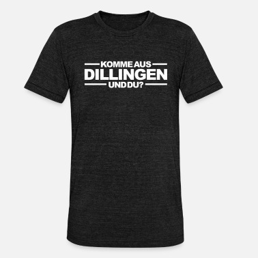 Saar Are you from Dillingen and you? Dillingen T-Shirt - Unisex Tri-Blend T-Shirt by Bella & Canvas
