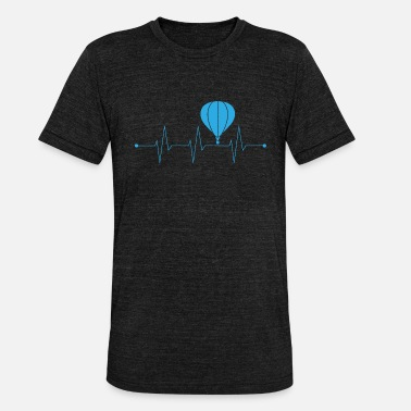 Pure Beat When ballooning My Heart Beats Higher - Blue - Unisex Tri-Blend T-Shirt by Bella & Canvas