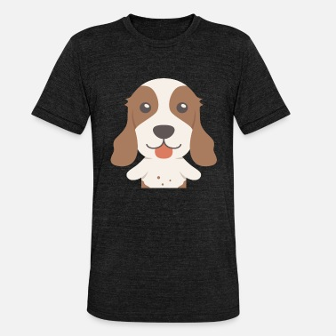 English Huge English Springer Spaniel - Unisex Tri-Blend T-Shirt