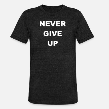 Never Give Up Never Give Up - Unisex triblend T-skjorte