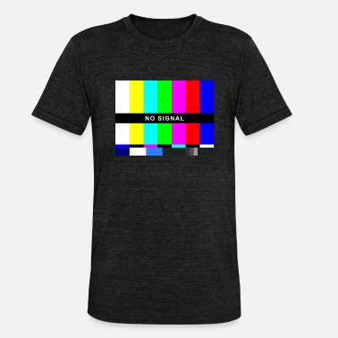 No Signal Test Image TV Retro 80s 90s Costume - Unisex Tri-Blend T-Shirt