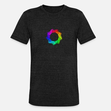Spirograph: 9-angular, broad, pointed - Unisex Tri-Blend T-Shirt