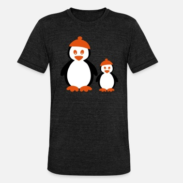 Manchot Penguins with Beanie - Triblend T-shirt unisex