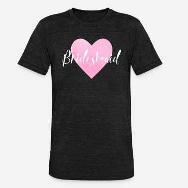 Party Bridesmaid Pink Heart JGA Bachelor Party High - Unisex tri-blend T-skjorte fra Bella + Canvas