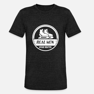 Gcse Real Men Ishockey Hockey - Unisex tri-blend T-skjorte fra Bella + Canvas