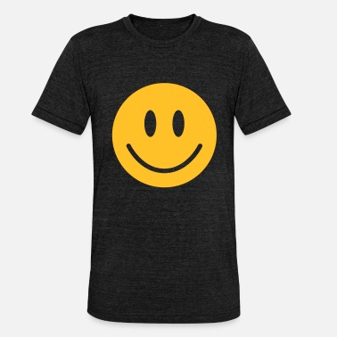 Yellow Faces happy, yellow face - Unisex Tri-Blend T-Shirt