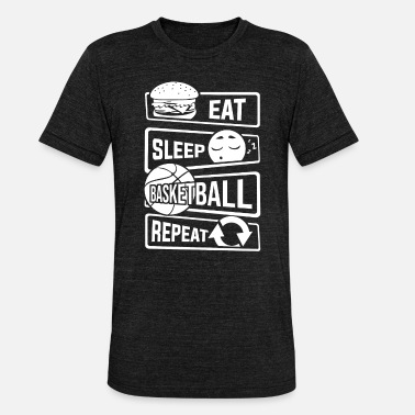B Ball Eat Sleep Basketball Repeat - B-Ball Ball Sports - Unisex Tri-Blend T-Shirt by Bella & Canvas