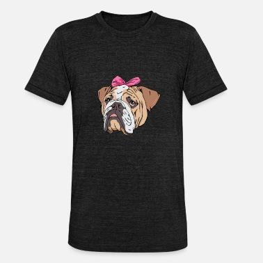 9616befc80 Bulldog In Pink Ribbon Gift Idea - Unisex Tri-Blend T-Shirt