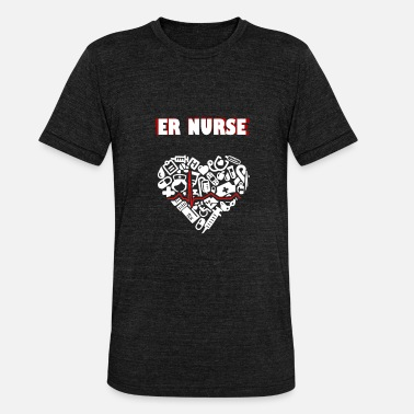 Emergency Care Emergency nurse - Unisex Tri-Blend T-Shirt by Bella & Canvas