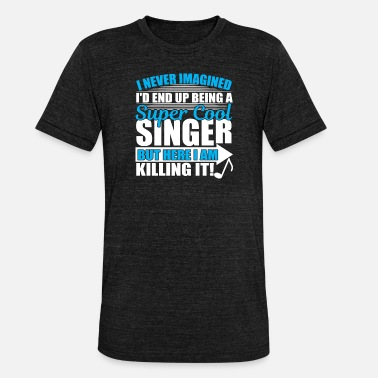 Singer Singer musician guitar rocker men - Unisex Tri-Blend T-Shirt by Bella & Canvas