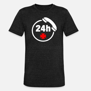 Emergency Call Emergency call 24h - Unisex Tri-Blend T-Shirt