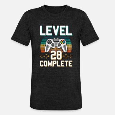 Pc Level 28 Complete 28 Years of Gamer Gamer - Unisex Tri-Blend T-Shirt