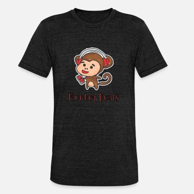 Beats Monkey beats - Triblend-T-shirt unisex från Bella + Canvas