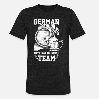 Deutsche National Deutsches National Sauf Team - Unisex T-Shirt meliert