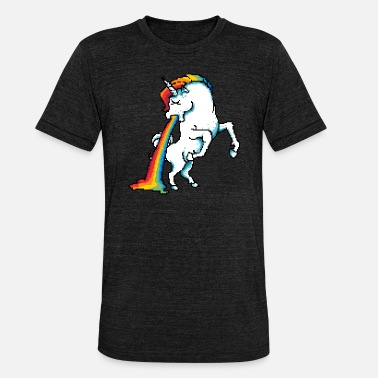 Nausea Unicorn Passed Nausea Vomiting Unicorn - Unisex Tri-Blend T-Shirt by Bella & Canvas