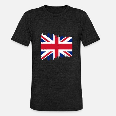 England Flagge England Großbritannien UK Flagge Land London - Unisex Tri-Blend T-Shirt von Bella + Canvas