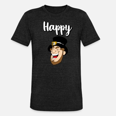 Heartily Happy happy laugh happiness gift idea - Unisex Tri-Blend T-Shirt by Bella & Canvas
