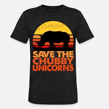 Chubby Save the Unicorns Chubby T Shirt - Animal Lovers - Unisex Tri-Blend T-Shirt