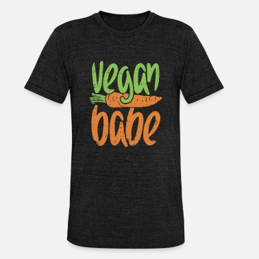 Vegan vegetarian animal welfare animal love gift - Unisex Tri-Blend T-Shirt by Bella & Canvas