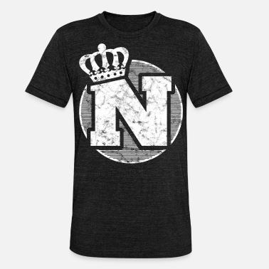 Crown Stylish letter N with crown - Unisex Tri-Blend T-Shirt