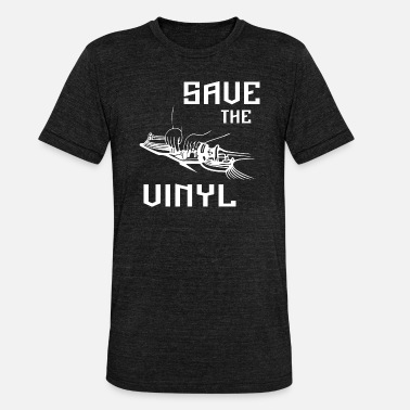 Save The Vinyl save the vinyl - Unisex T-Shirt meliert