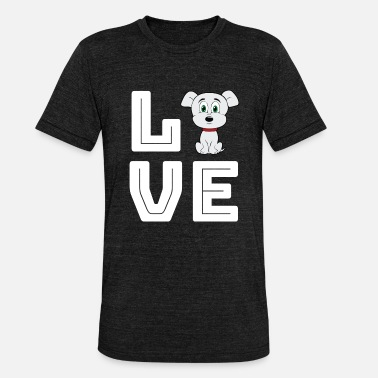LOVE with dog - Unisex Tri-Blend T-Shirt