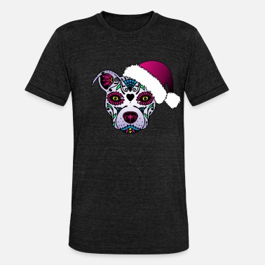 Mexican Death Mask Mexican death mask dog - Unisex Tri-Blend T-Shirt by Bella & Canvas